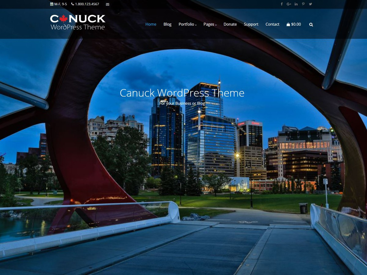 Canuck Download Free Wordpress Theme 2