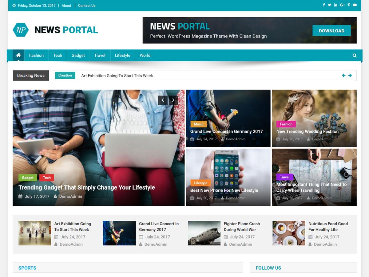 News Portal Download Free Wordpress Theme 4