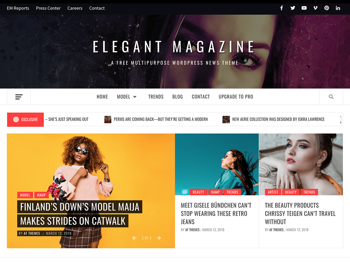 Elegant Magazine Download Free Wordpress Theme 3