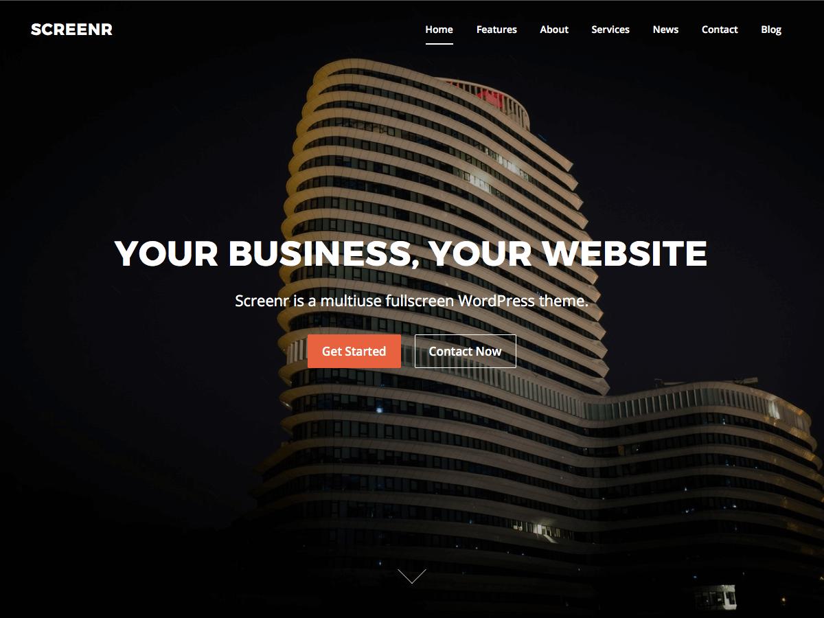Screenr Download Free Wordpress Theme 4