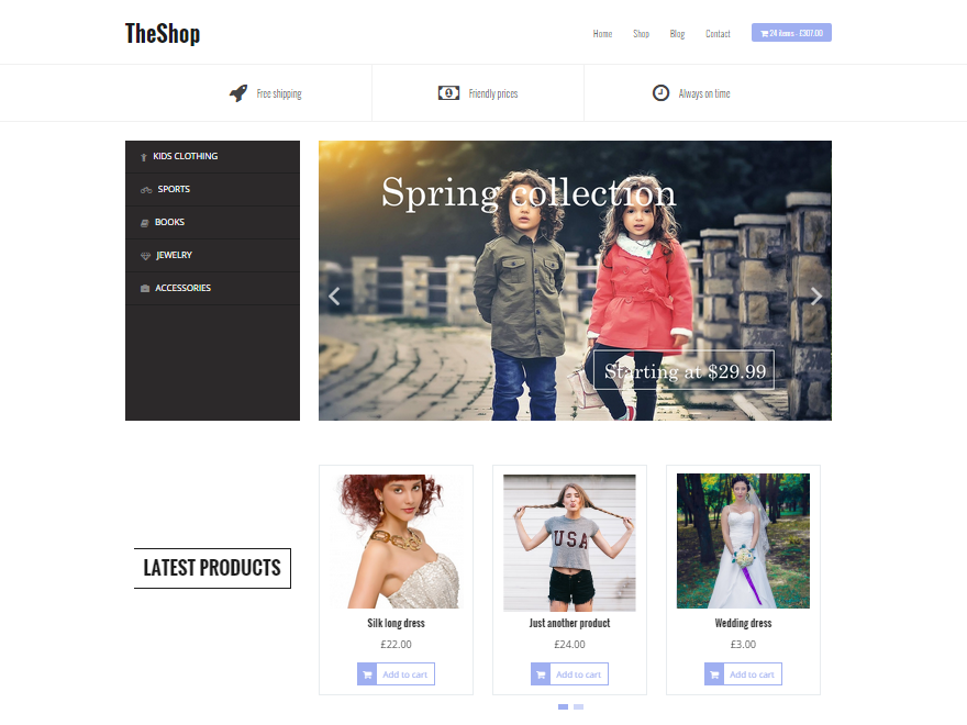 TheShop Download Free Wordpress Theme 2