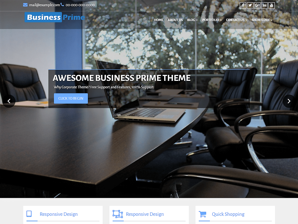 Business Prime Download Free Wordpress Theme 3