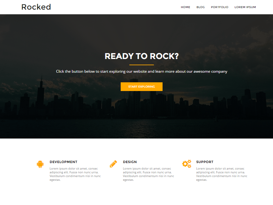 Rocked Download Free Wordpress Theme 5