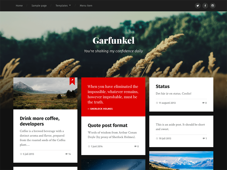 Garfunkel Download Free Wordpress Theme 1