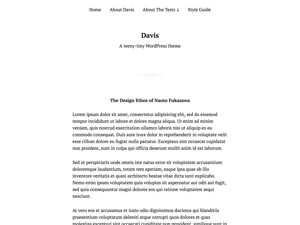 Davis Download Free Wordpress Theme 5