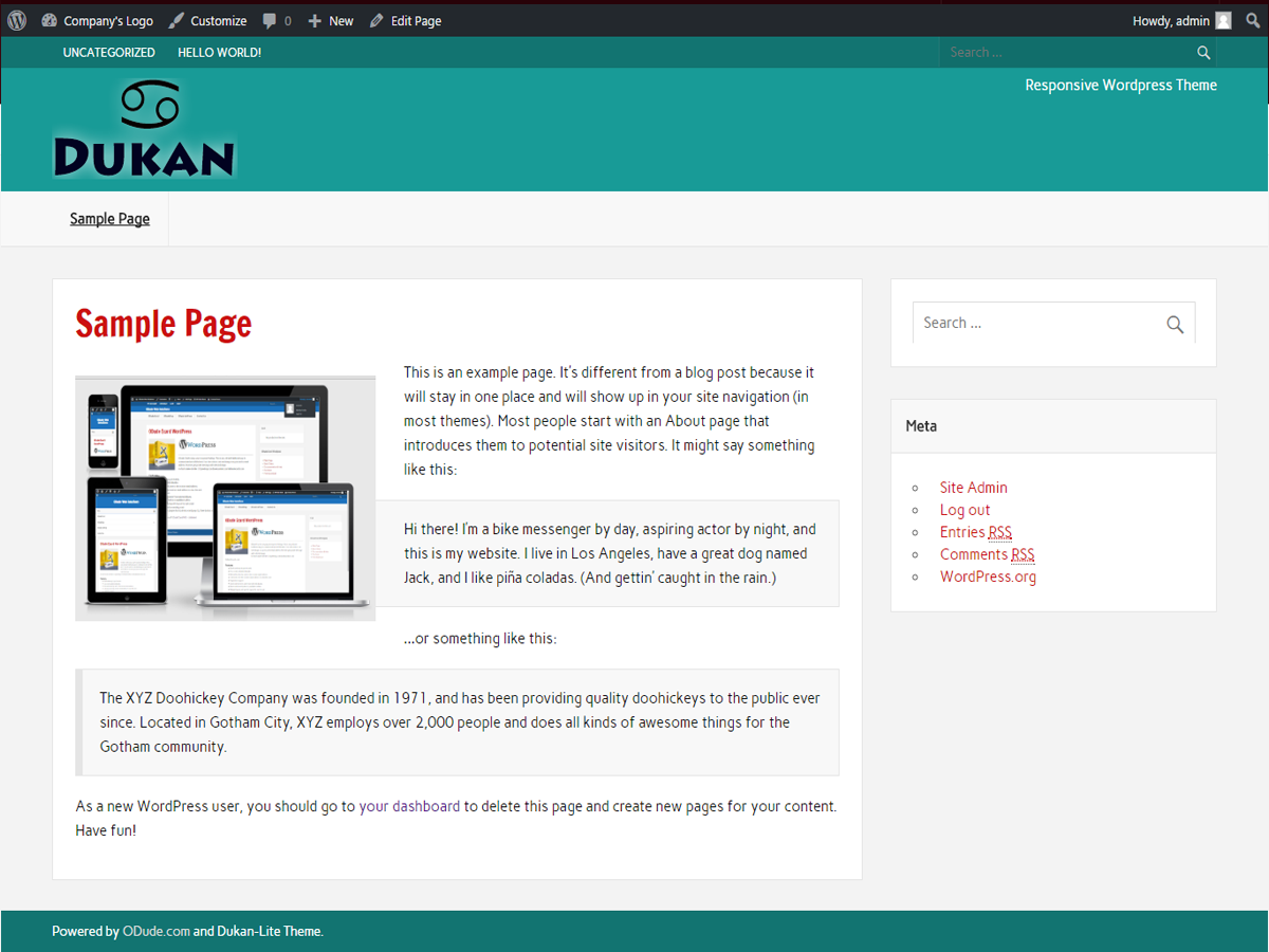 dukan Lite Download Free Wordpress Theme 4