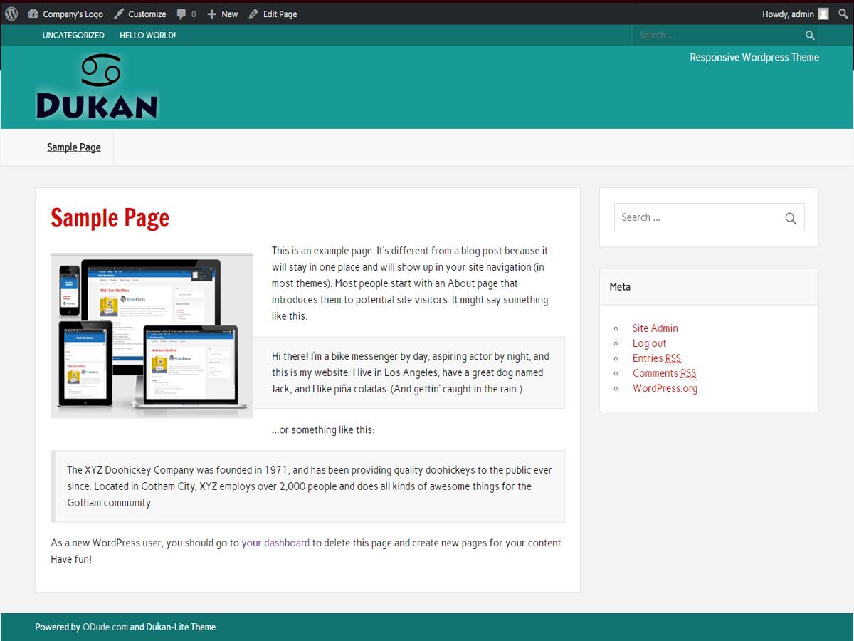 dukan Lite Download Free Wordpress Theme 1