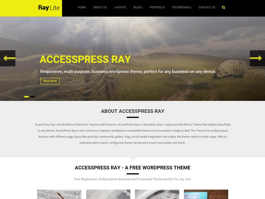 AccessPress Ray Download Free Wordpress Theme 1