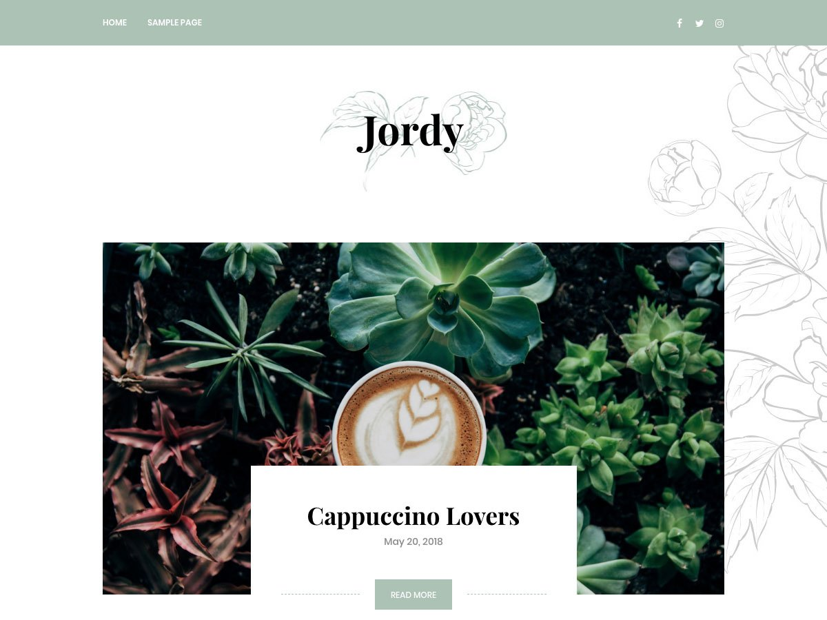 Jordy Download Free Wordpress Theme 2