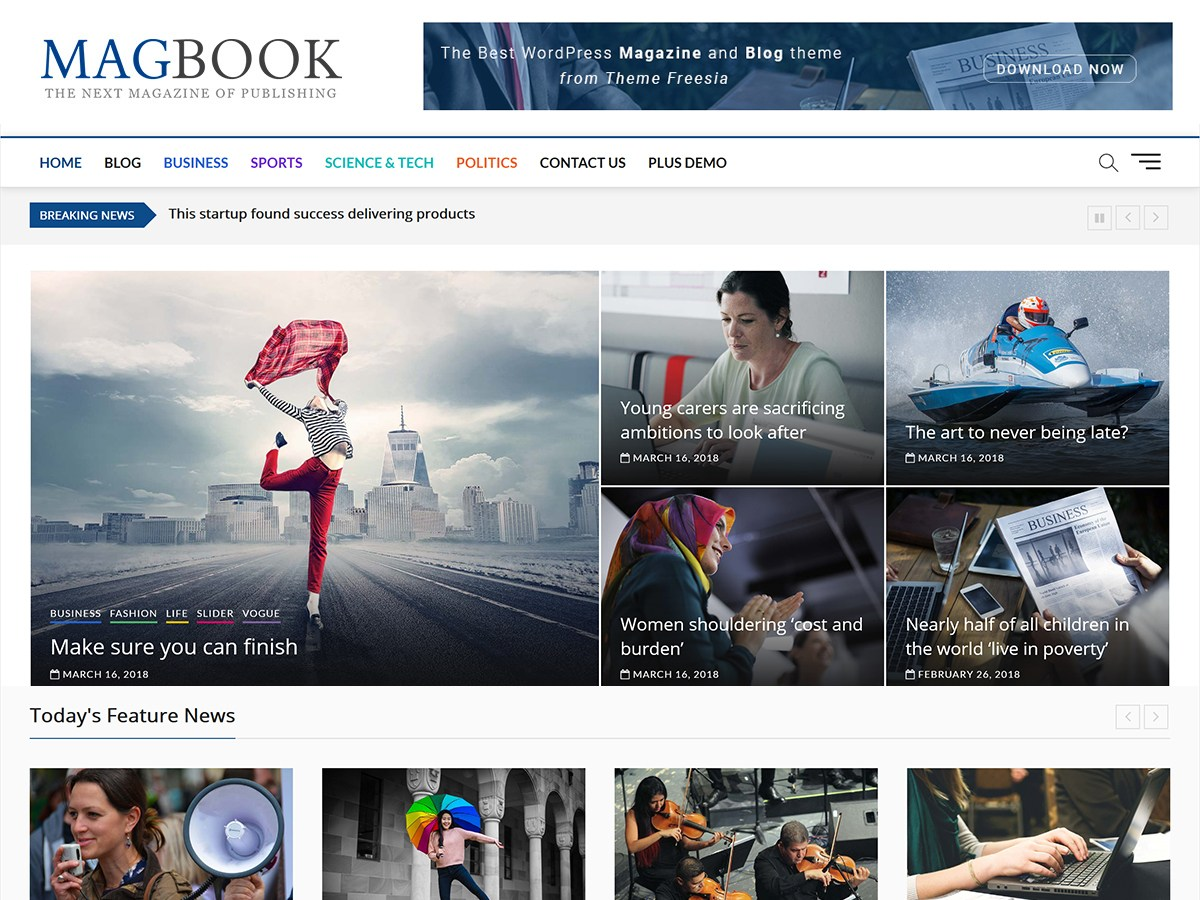 Magbook Download Free Wordpress Theme 3