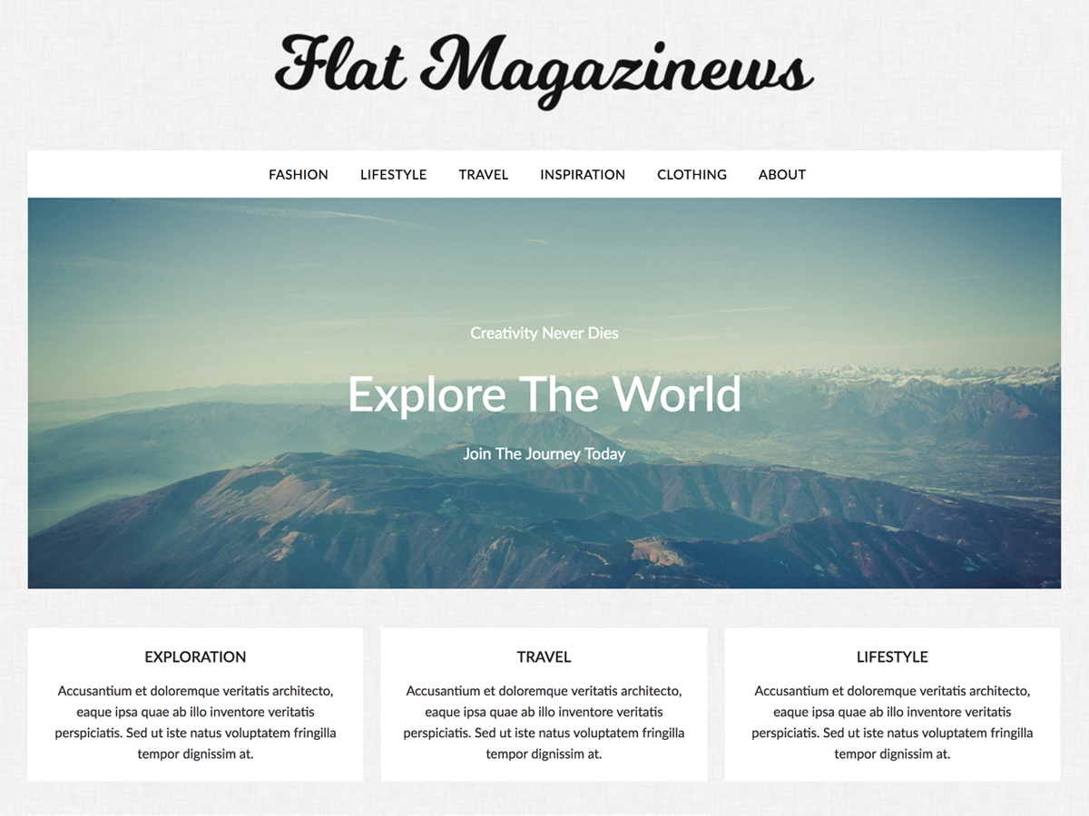 FlatMagazinews Download Free Wordpress Theme 3