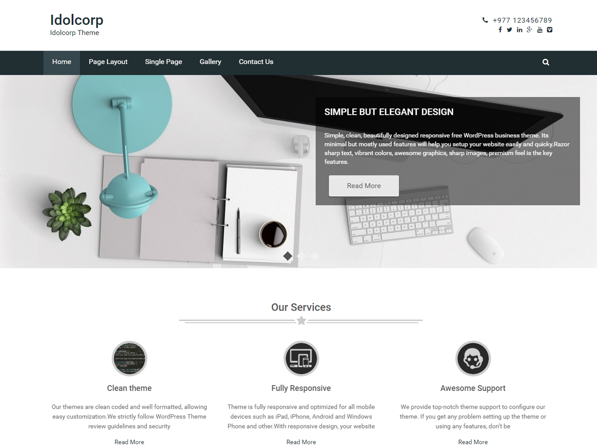 idolcorp Download Free Wordpress Theme 1
