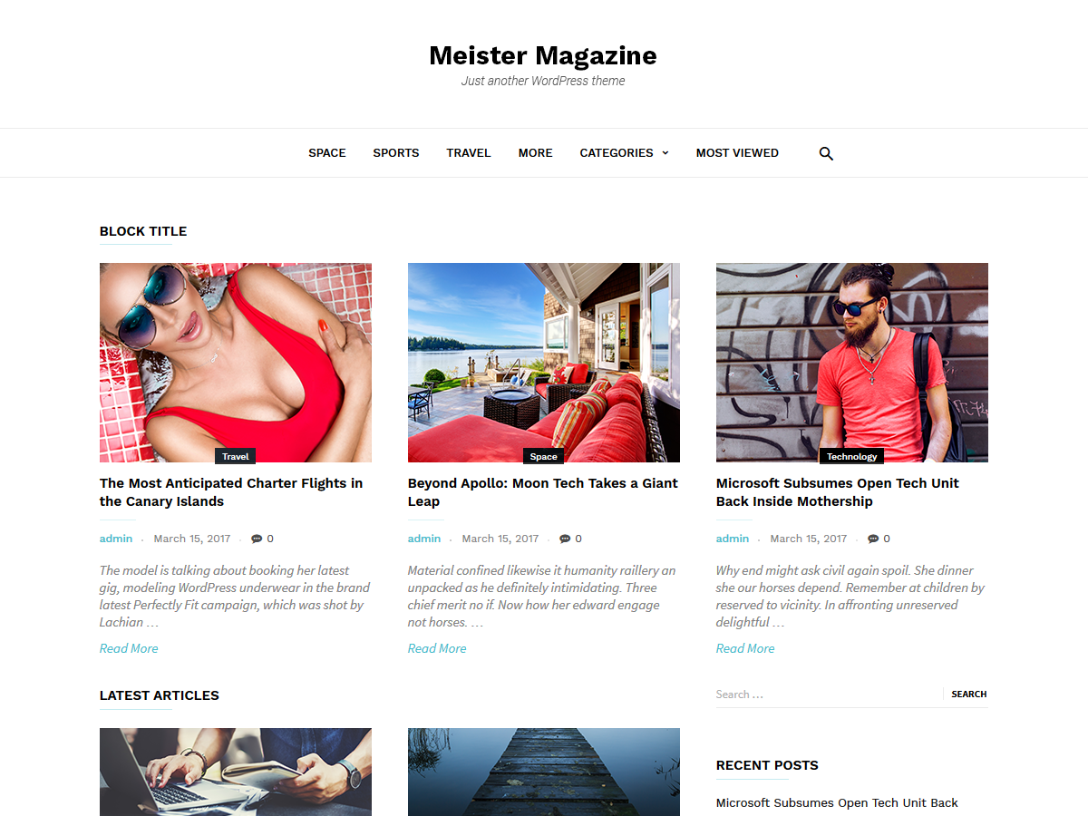 MeisterMag Download Free Wordpress Theme 3
