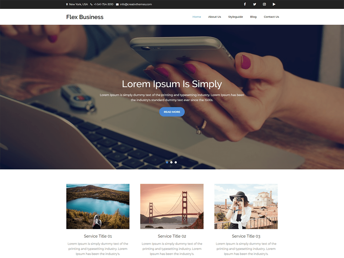 Flex Business Download Free Wordpress Theme 1