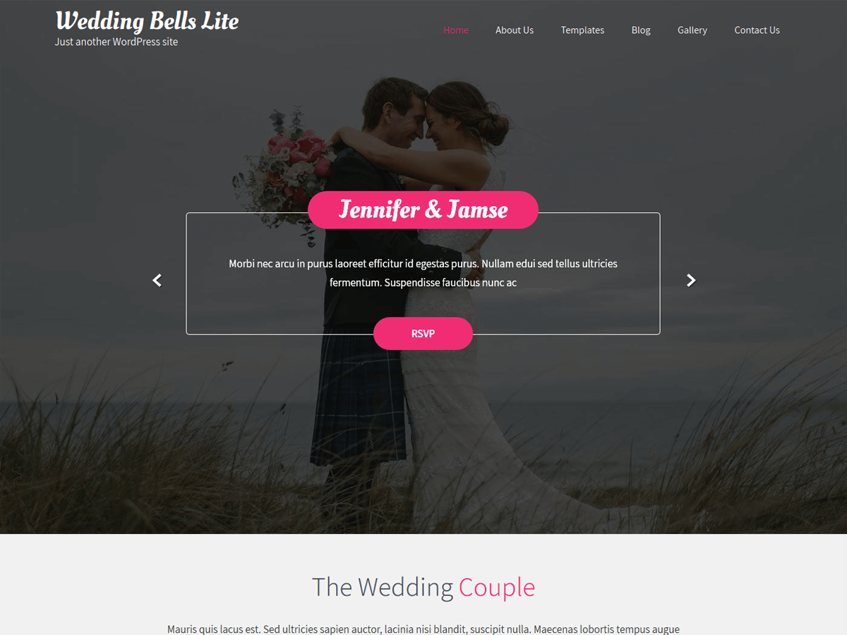 Wedding Bells  Lite Download Free Wordpress Theme 2