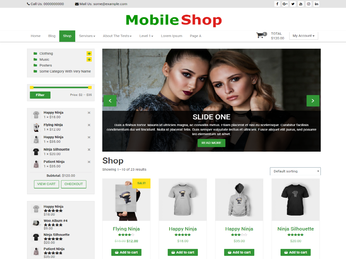 Mobile Shop Download Free Wordpress Theme 2