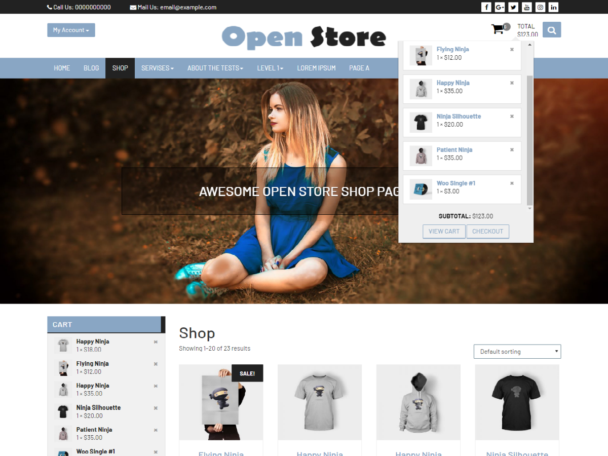 Open Store Download Free Wordpress Theme 1