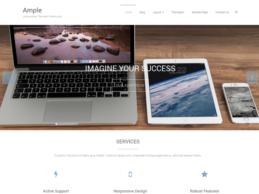 Ample Download Free Wordpress Theme 3