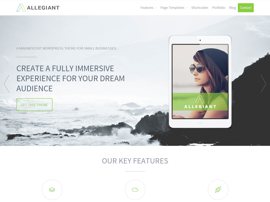 Allegiant Download Free Wordpress Theme 4