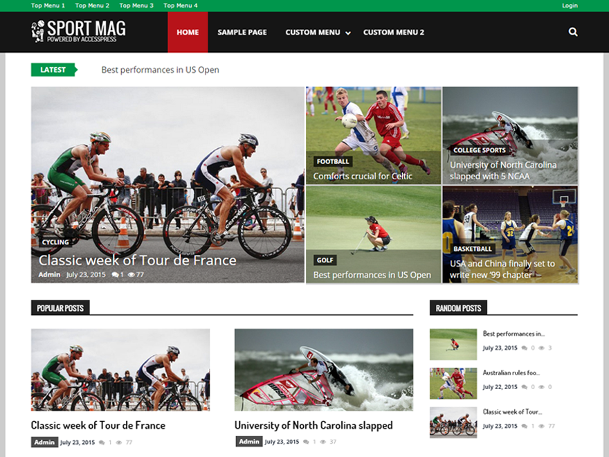 SportsMag Download Free Wordpress Theme 1