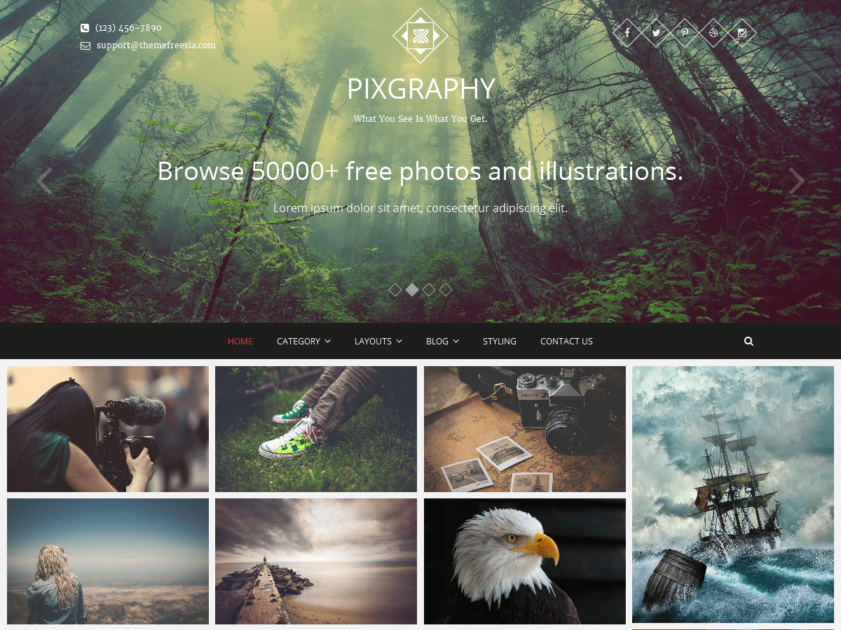 Pixgraphy Download Free Wordpress Theme 3
