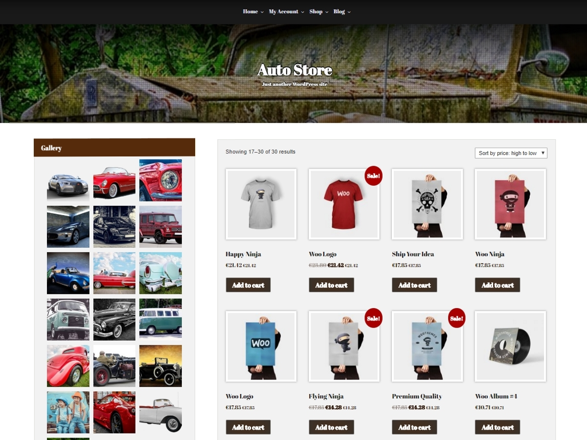 Auto Store Download Free Wordpress Theme 4