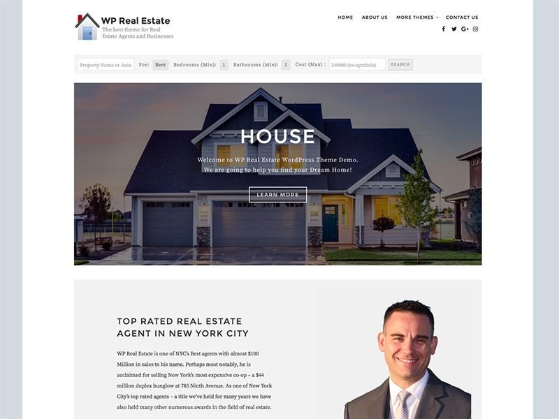 WP Real Estate Download Free Wordpress Theme 2