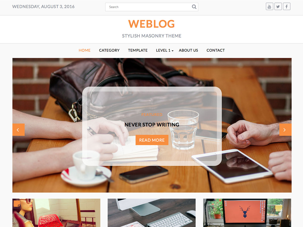 Weblog Download Free Wordpress Theme 1