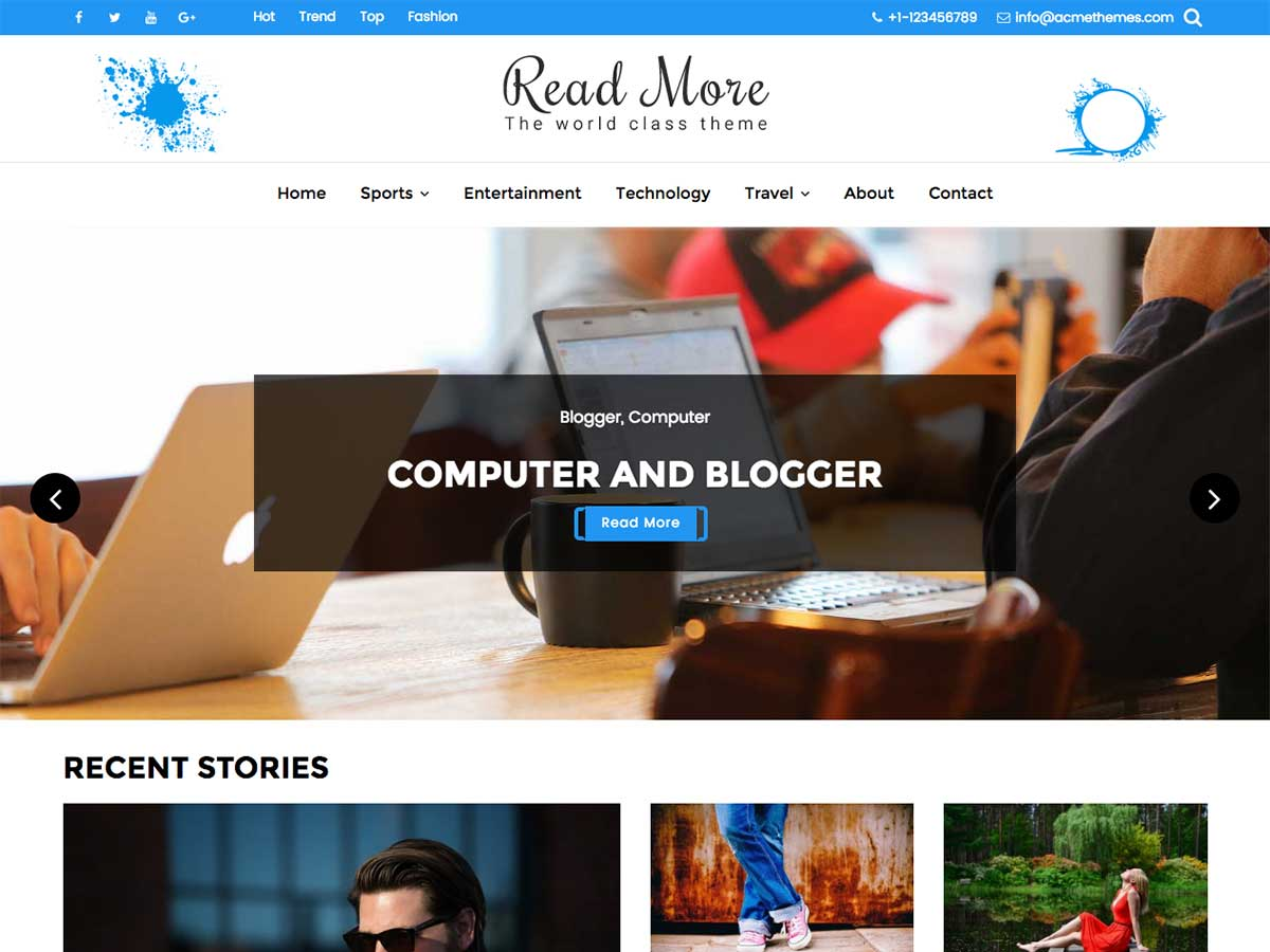 Read More Download Free Wordpress Theme 1