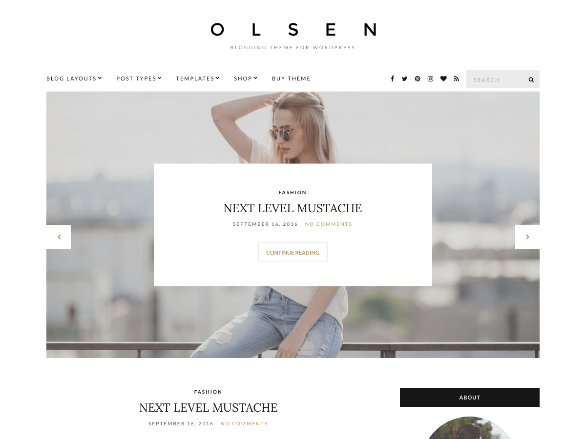 Olsen Light Download Free Wordpress Theme 3