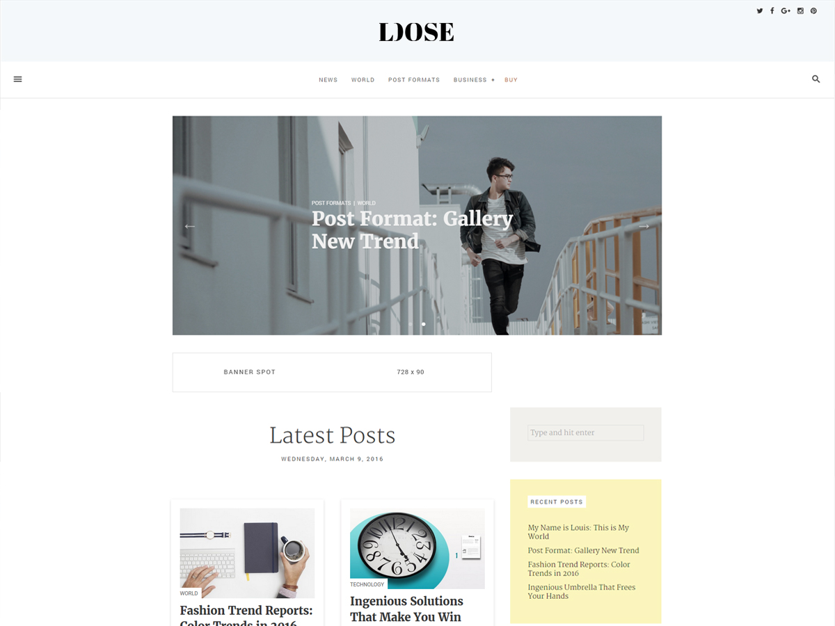 loose Download Free Wordpress Theme 3