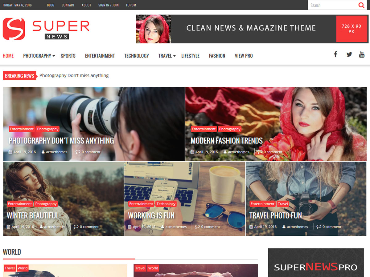 SuperNews Download Free Wordpress Theme 3