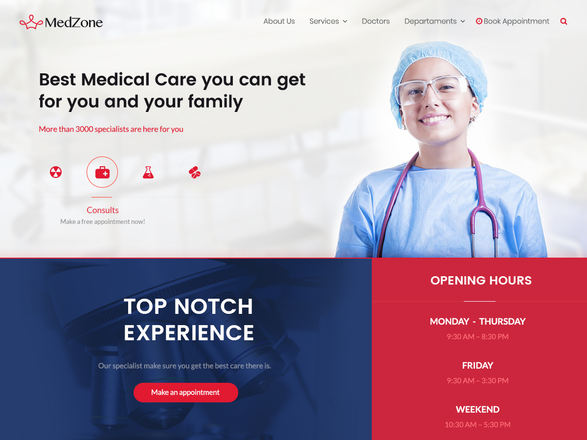 MedZone Lite Download Free Wordpress Theme 1