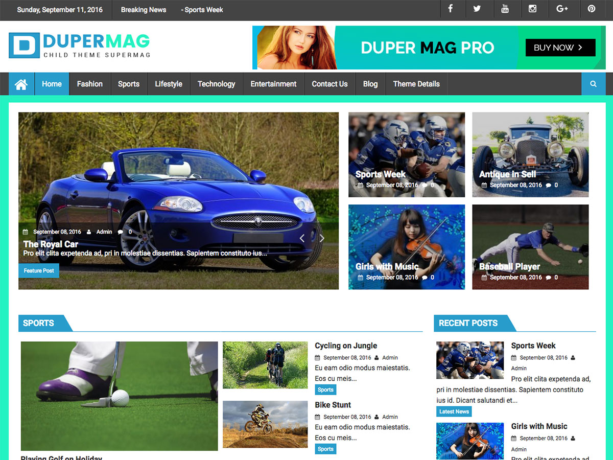DuperMag Download Free Wordpress Theme 4