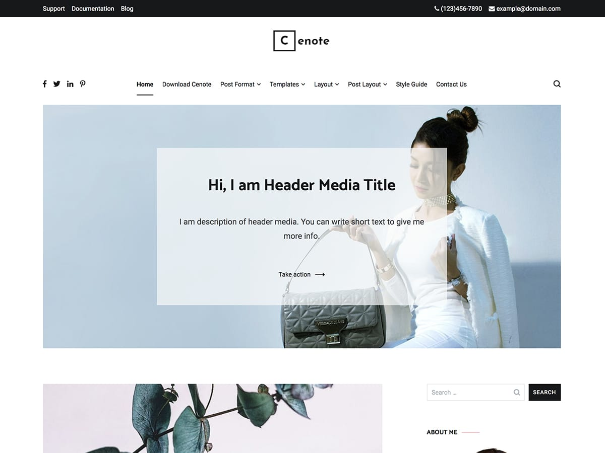 Cenote Download Free WordPress Theme