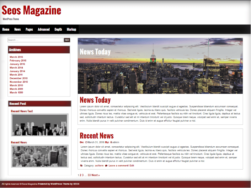 Seos Magazine Download Free Wordpress Theme 2