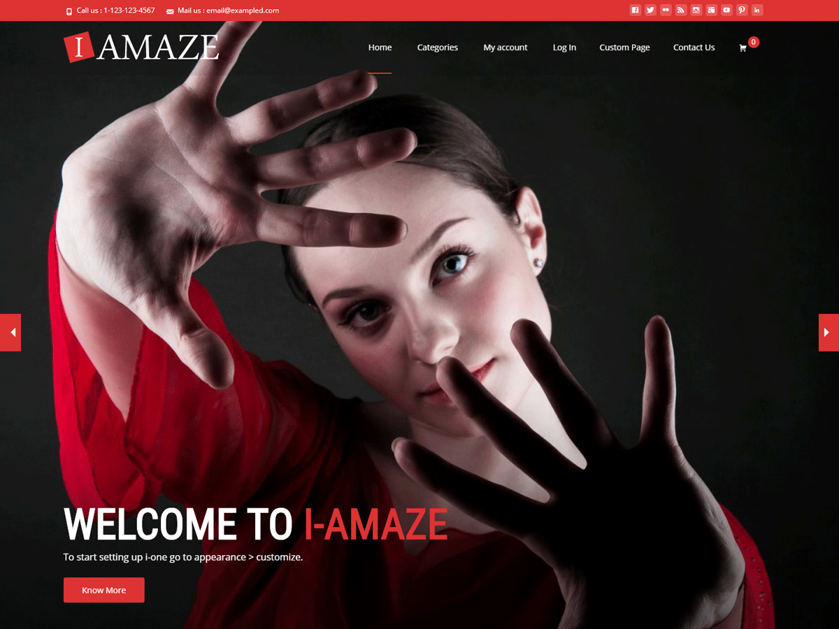 i-amaze Download Free Wordpress Theme 2