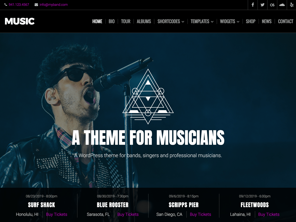 Music Lite Download Free Wordpress Theme 2