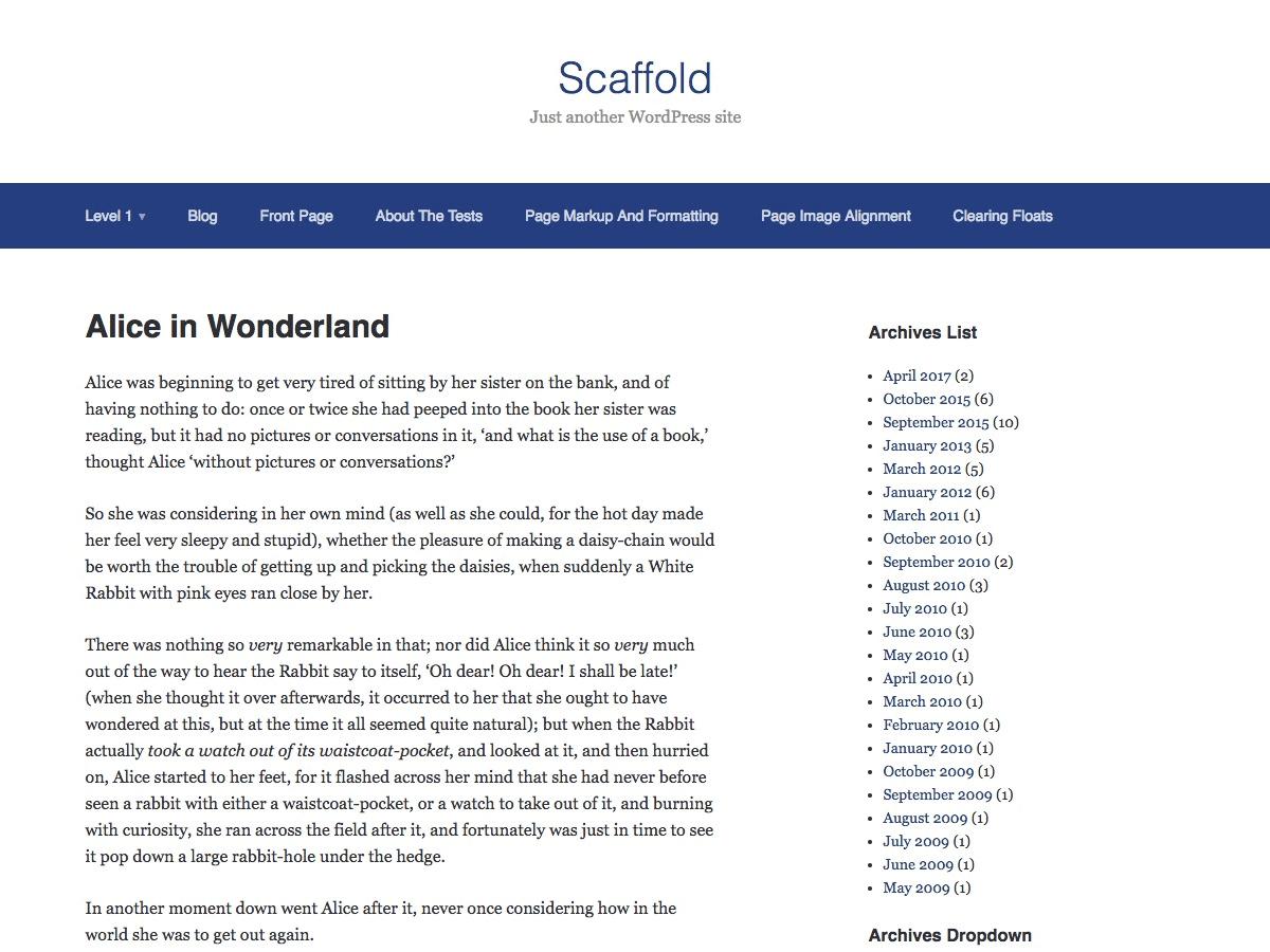 Scaffold Download Free Wordpress Theme 3