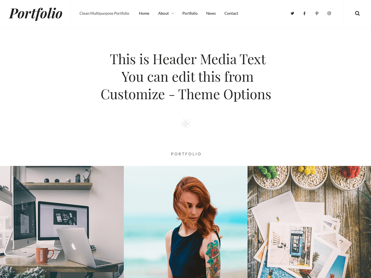 CleanPortfolio Download Free Wordpress Theme 2