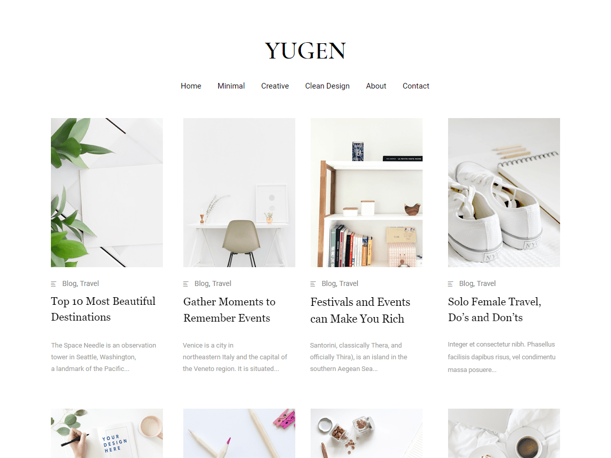 Yugen Download Free Wordpress Theme 1