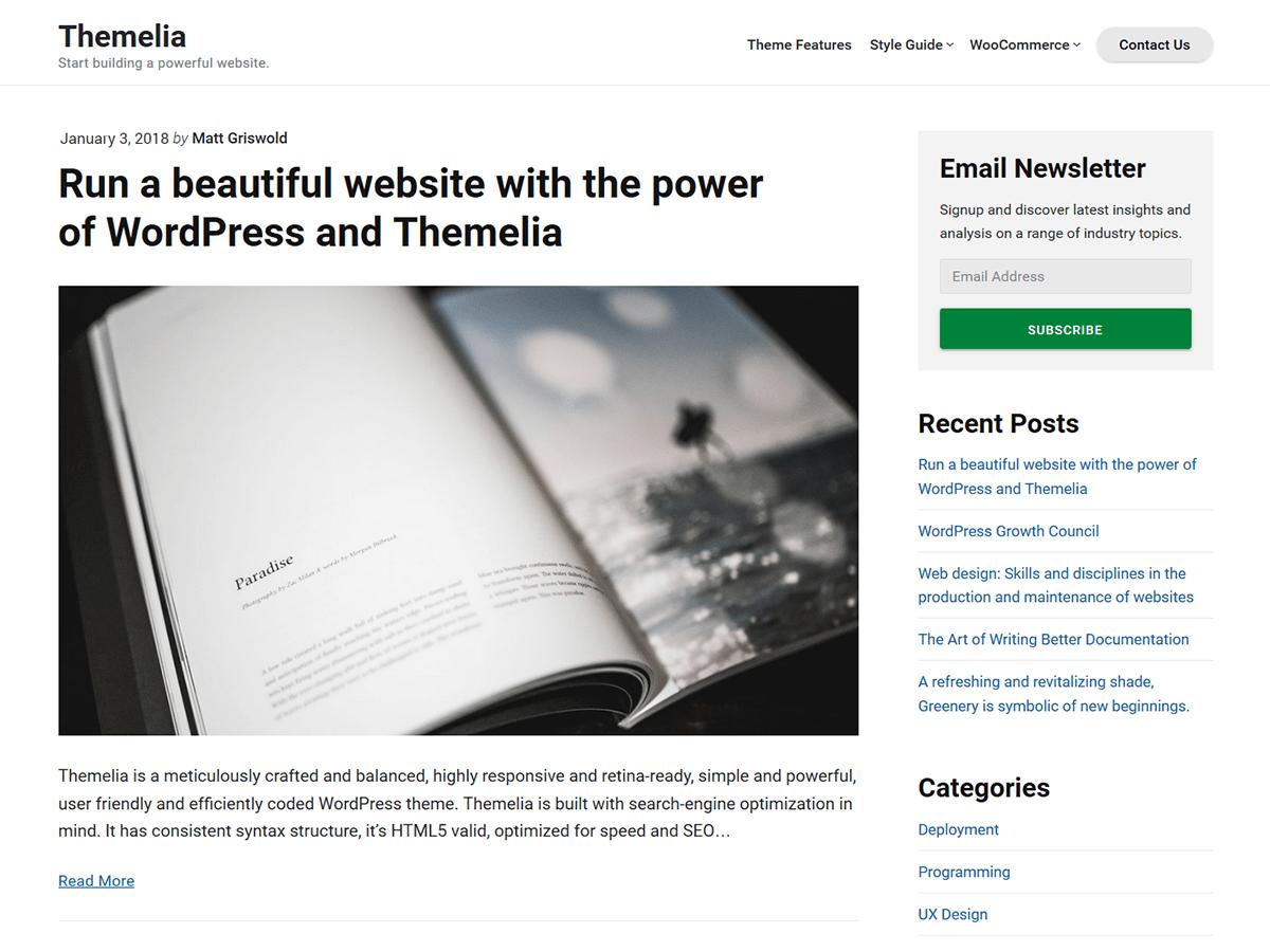 Themelia Download Free Wordpress Theme 3