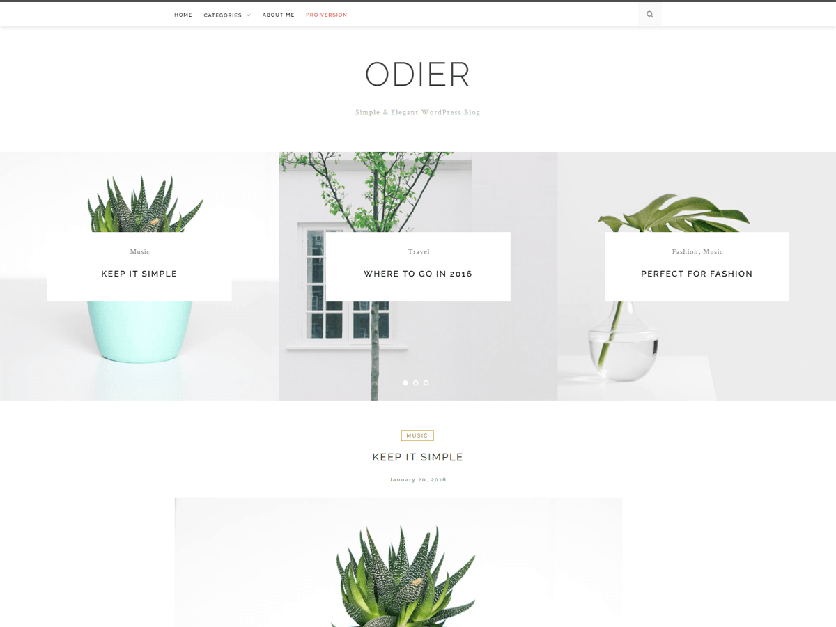 OdierLite Download Free Wordpress Theme 2