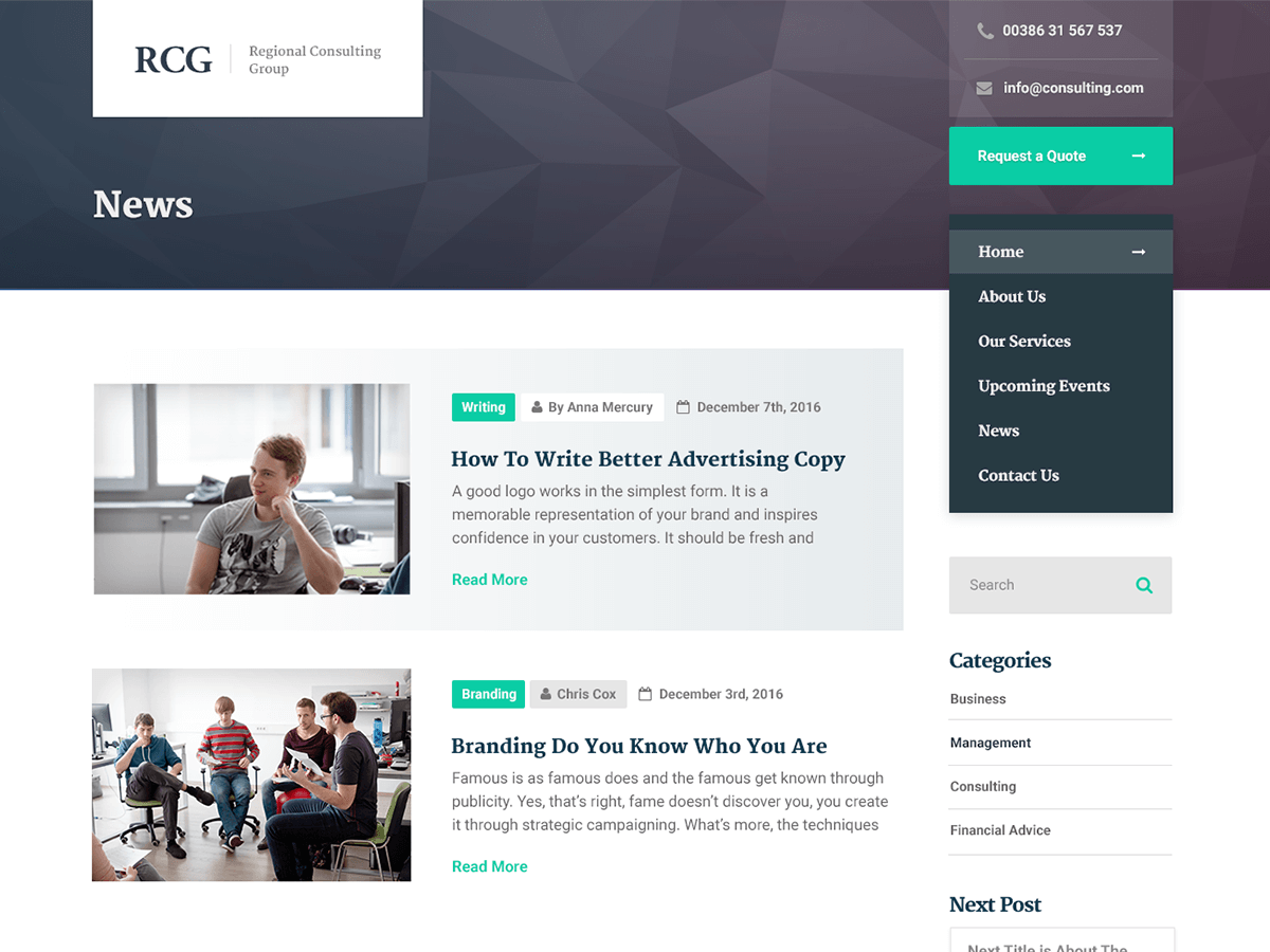 ConsultPress Lite Download Free Wordpress Theme 2