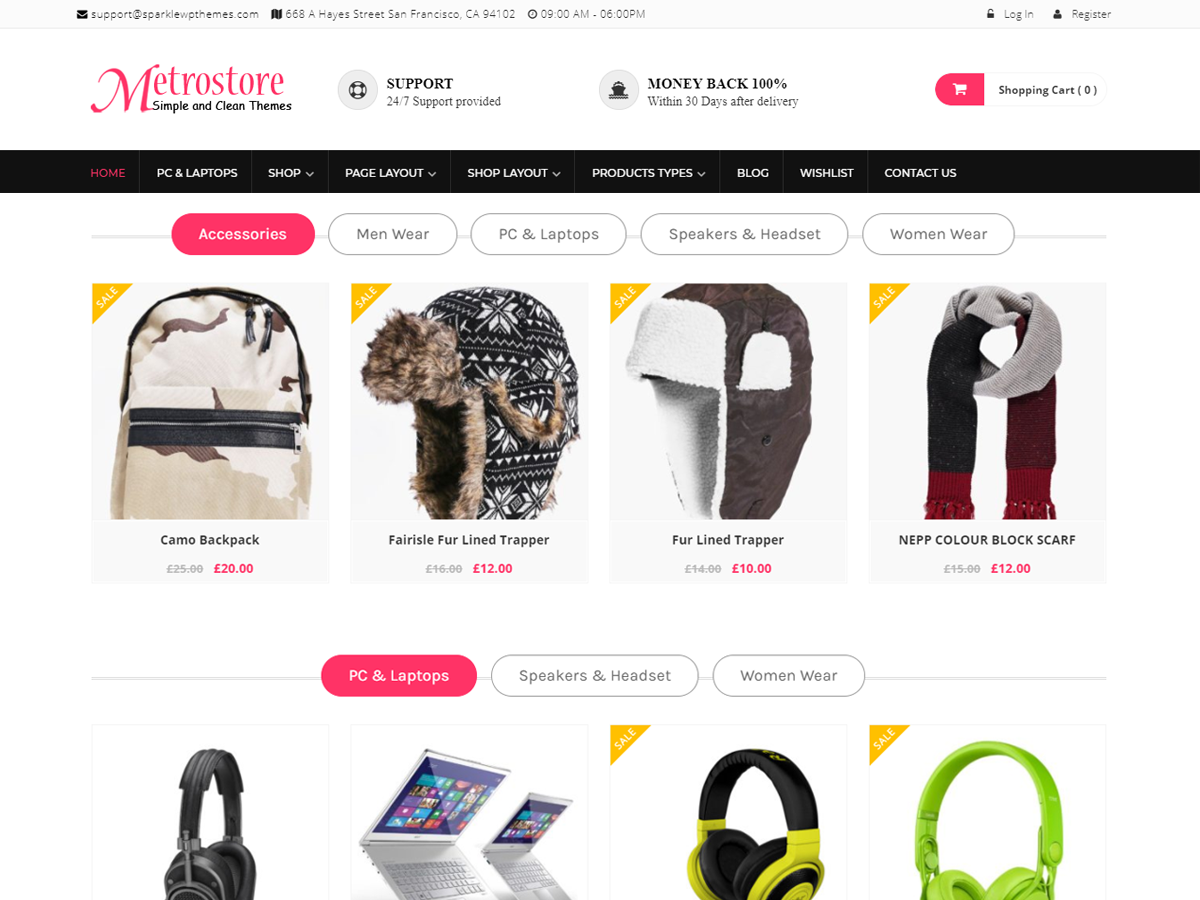 MetroStore Download Free Wordpress Theme 4
