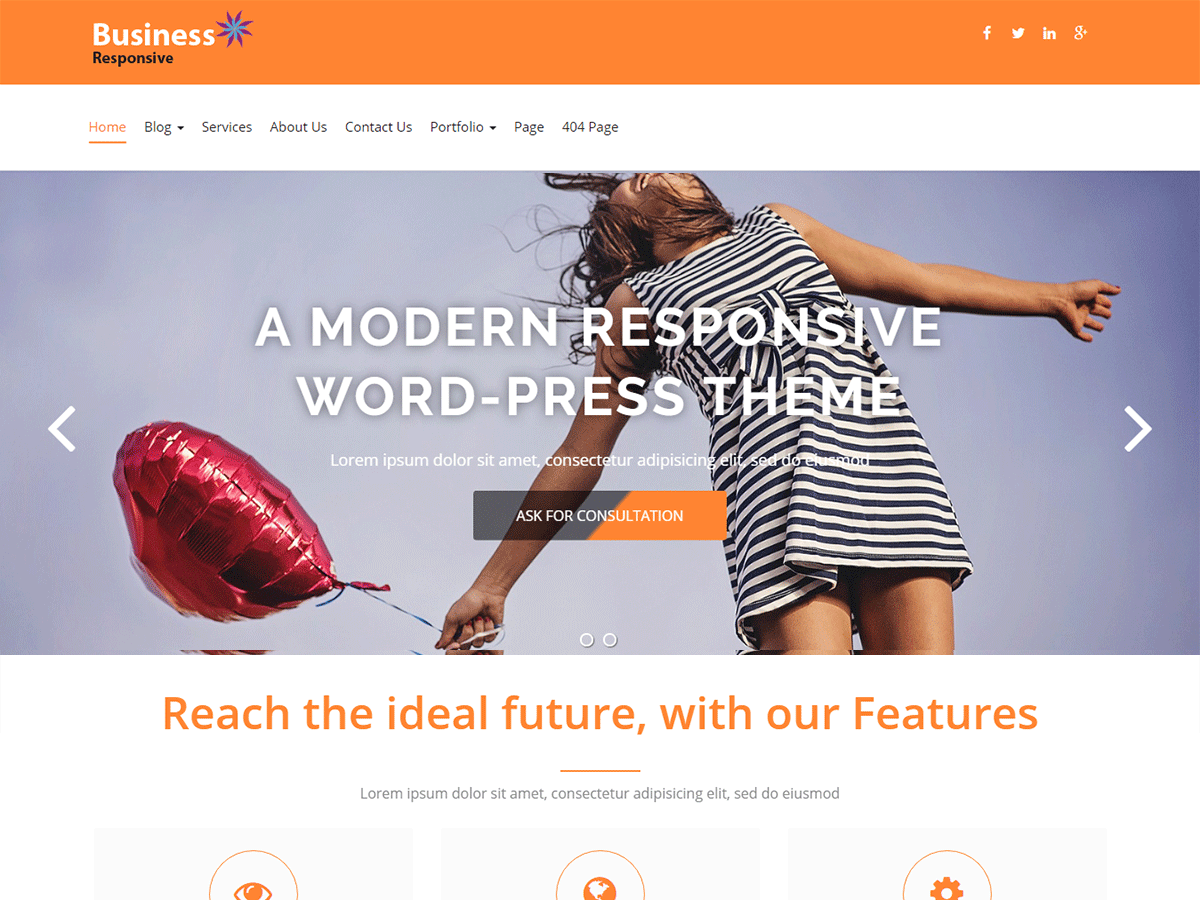 Business Responsiveness Download Free Wordpress Theme 1