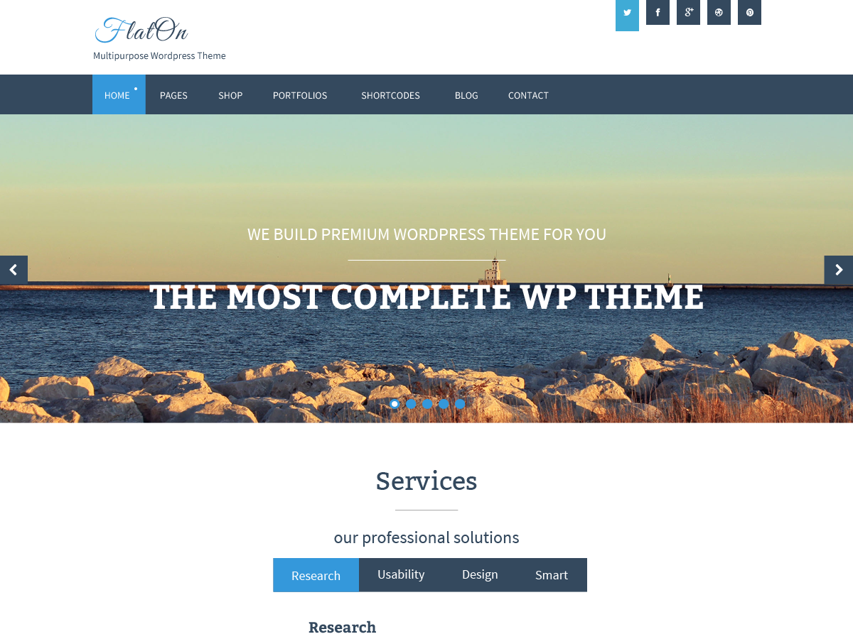 FlatOn Download Free Wordpress Theme 4