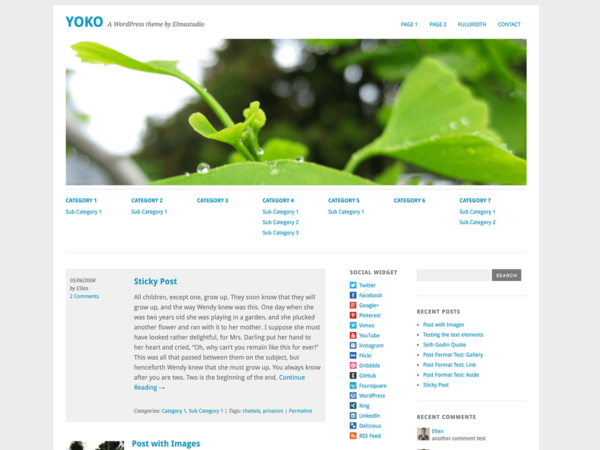 Yoko Download Free Wordpress Theme 1