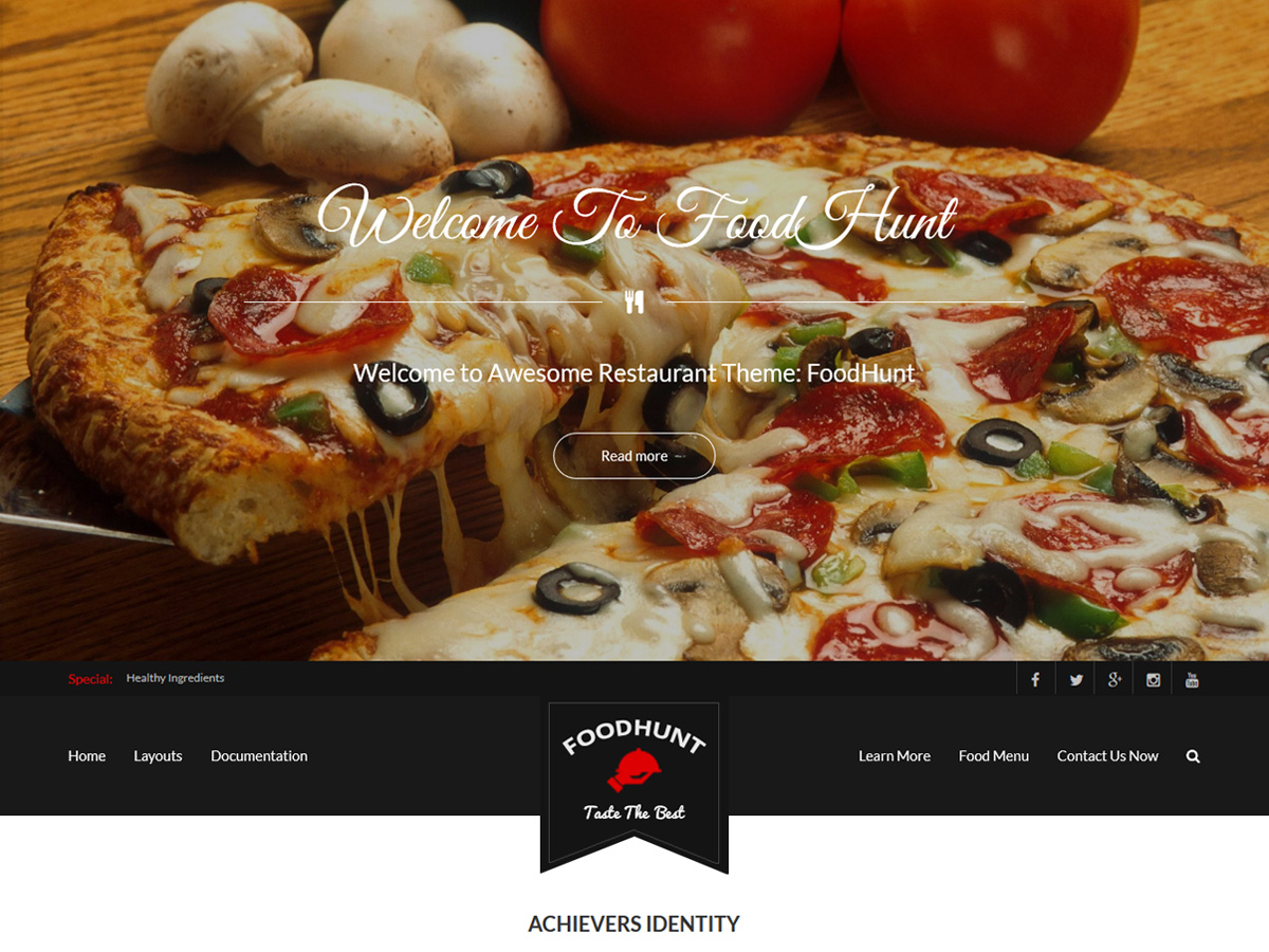 FoodHunt Download Free Wordpress Theme 5