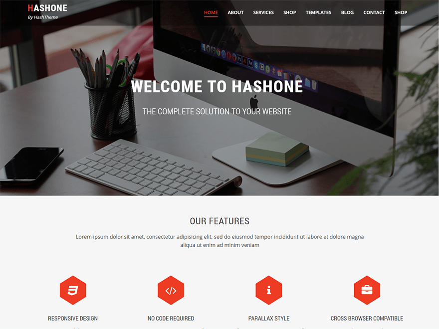 HashOne Download Free Wordpress Theme 3